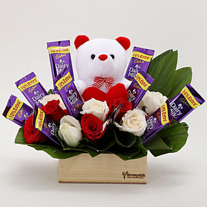 The Perfect Surprise Combo: Flower N Teddy