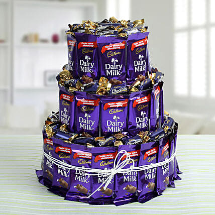 Dairy Milk Chocolate & Eclairs Arrangement: Send Chocolate Bouquet