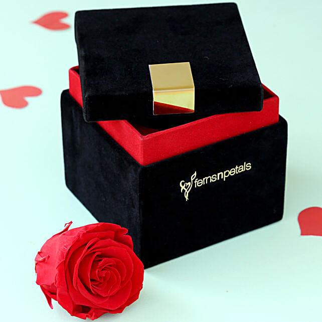 Timeless- Forever Red Rose in Velvet Box: Valentines Day Flowers