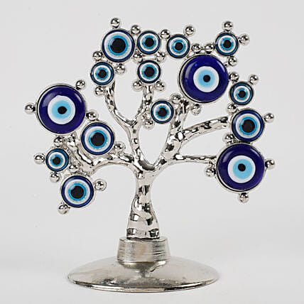 Tree Shaped Evil Eye Showpiece: Feng Shui Gifts