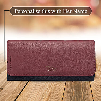 Trendy Maroon Wallet: Gift for Girlfriend Day