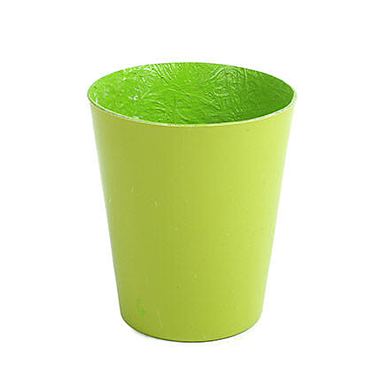 Unbreakable Green Fiber Vase: Pots for Plants