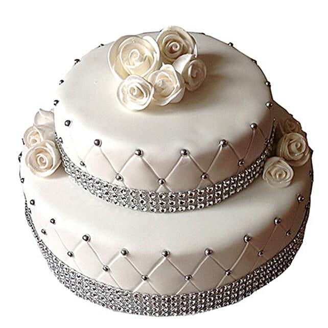 2 Tier Designer Fondant Cake: Send Designer Cakes