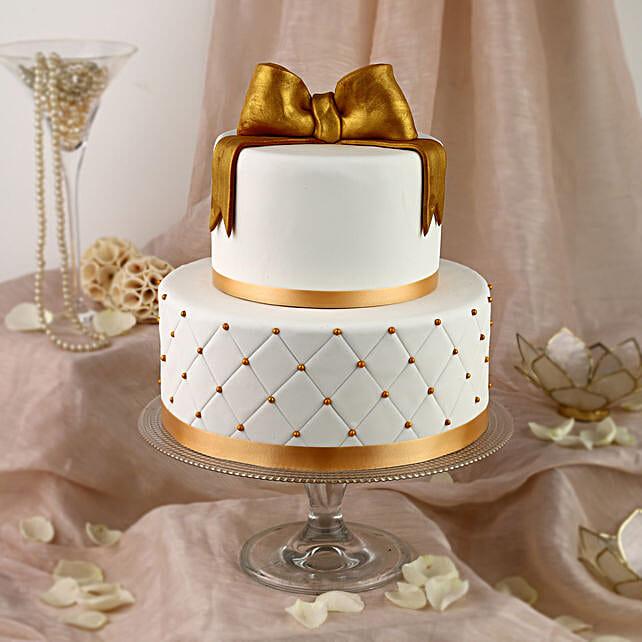 50th Anniversary Fondant 2 Tier Cake: Multi Tier Cakes