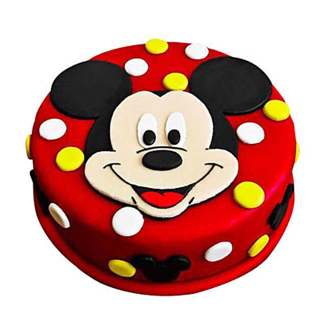 Adorable Mickey Mouse Cake: Cartoon Cakes