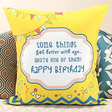 Birthday Message Cushion: Personalised Gifts for Brother