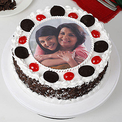 Black Forest Mothers Day Photo Cake: Black Forest Cakes