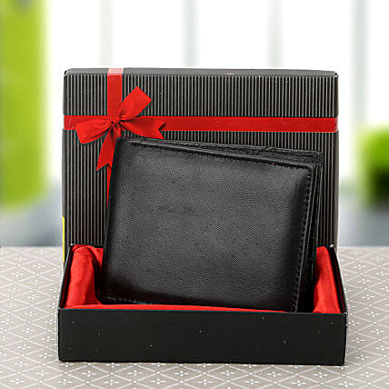 Black Wallet: Leather Gifts