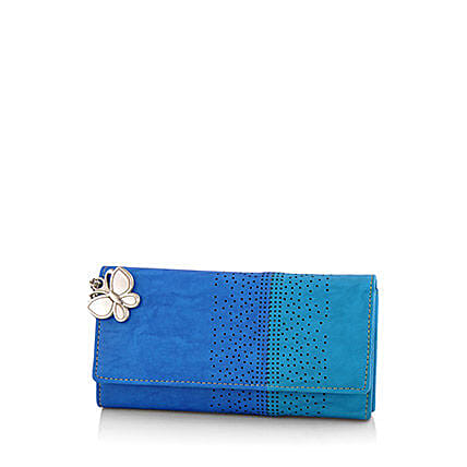 Butterflies Beautiful Blue Wallet: Handbags and Wallets Gifts