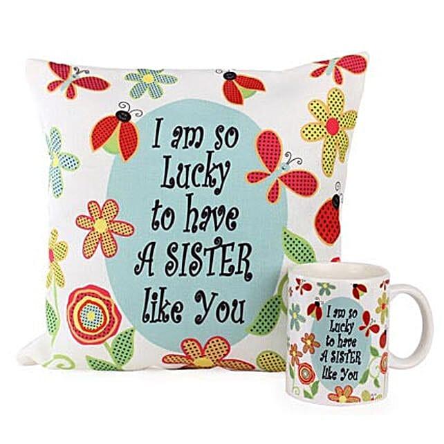 Cushion Mug For Sisters: Buy Cushions