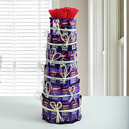 Delicious Dairy Milk Tower: Cadbury Chocolates