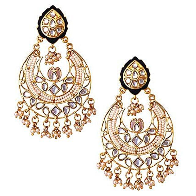 Estelle Gold Plated Chandbali Earrings: Earrings For Women