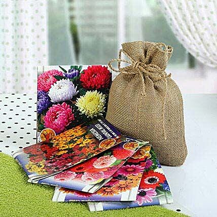 Flowering Seeds Hamper: Send Organic Seeds