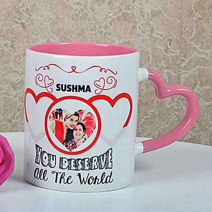 Full Of Love Personalized Mug: Birthday Gifts for Mother