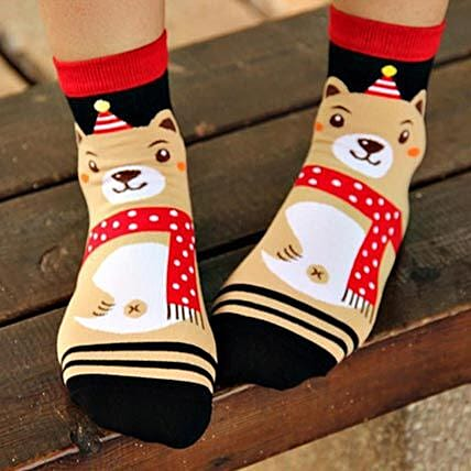 Happy Bear Ankle Length Socks: Birthday Gifts for Kids