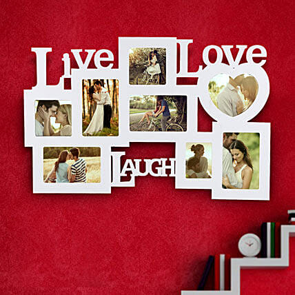 Live Laugh Love Frame Valentine: Birthday Personalised Photo Frames