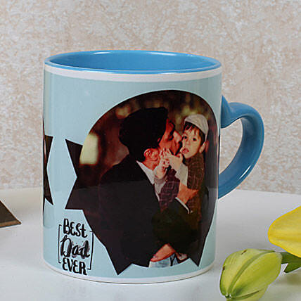 Lovely Personalized Blue Mug: Fathers Day Personalised Mugs