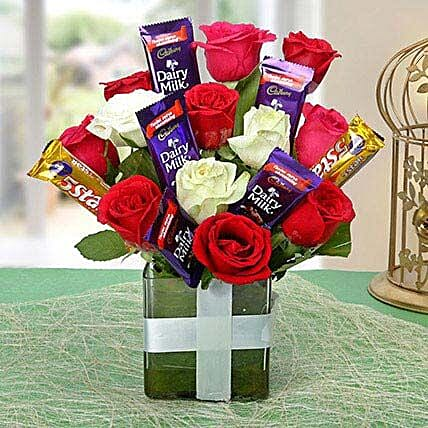 Perfect Choco Flower Arrangement: