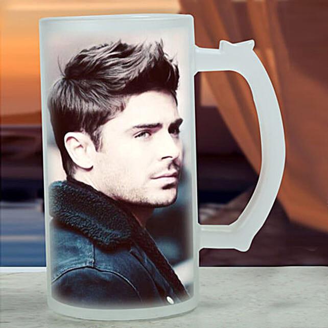 Personalised Frosted Beer Mug: Personalised Mugs for Bhai Dooj