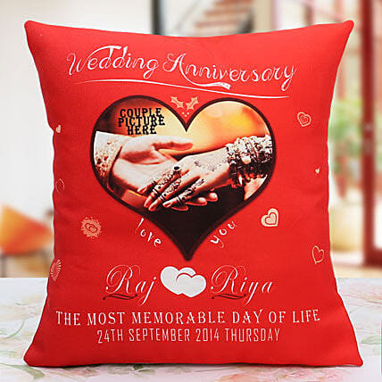 Personalized Anniversary Cushion: Cushions for anniversary