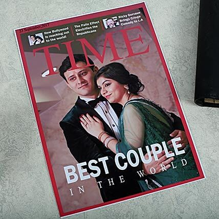 Personalized Magazine Cover: Send Marriage Anniversary Gifts for Wife