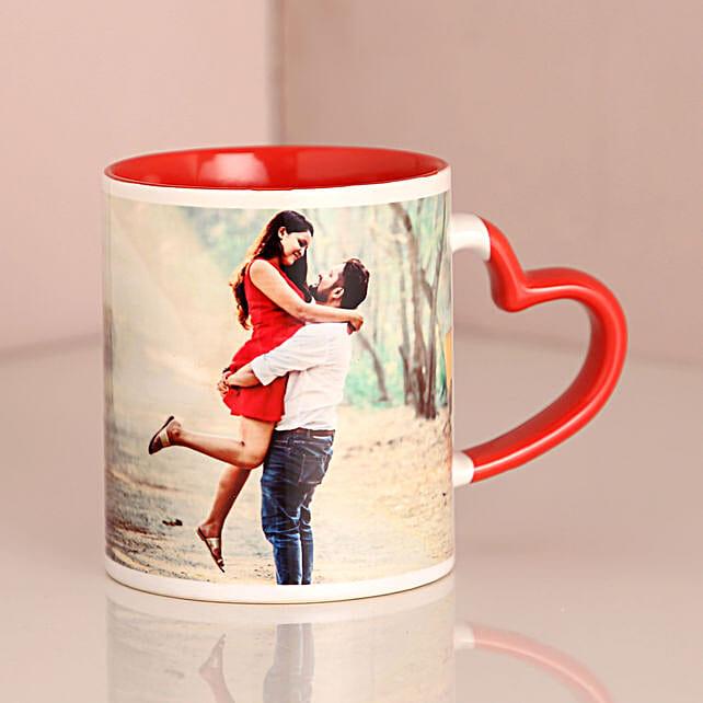 Personalized Red Ceramic Mug: Personalised Mugs