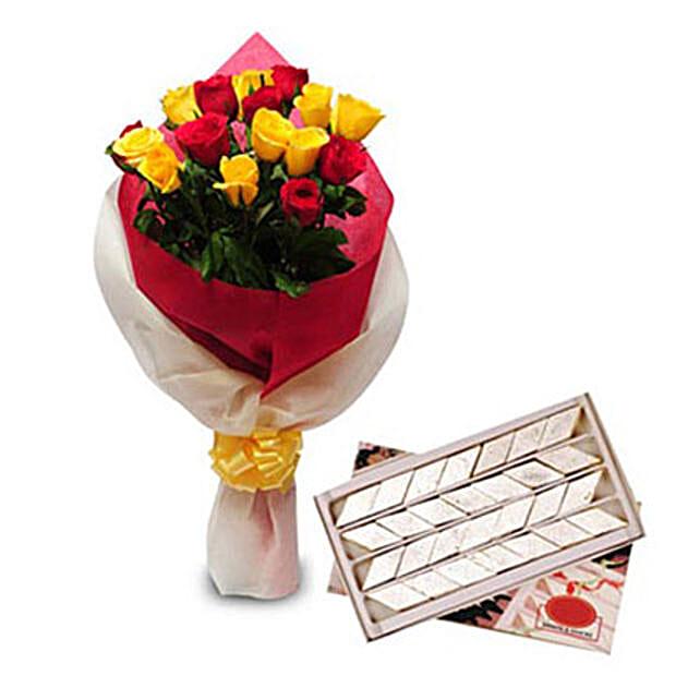 Roses N Kaju Katli: 75th Anniversary Gifts