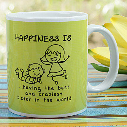 Sibling Love Mug: Rakhi Gifts for Sister