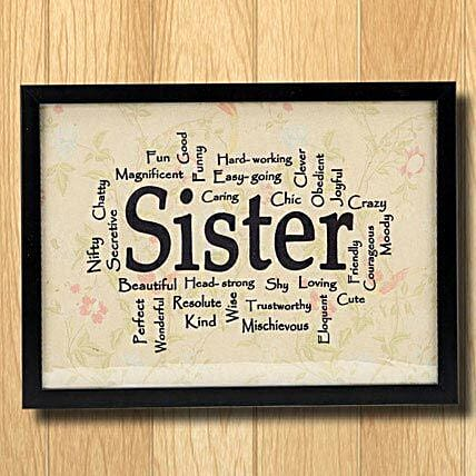 Sister Frame: Rakhi Return Gifts for Sister