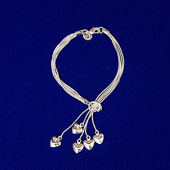 Sterling Silver Alloy Bracelet: Earrings