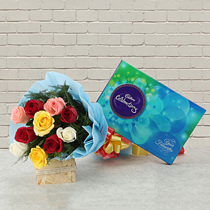 Celebrations with Roses: Flowers N Chocolates - anniversary