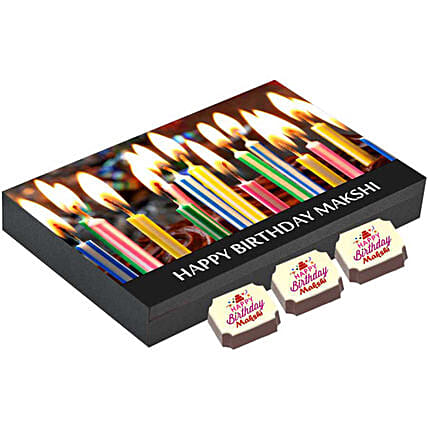 Personalised Birthday Gift Box- 12 Chocolates: Personalised Chocolates for Birthday