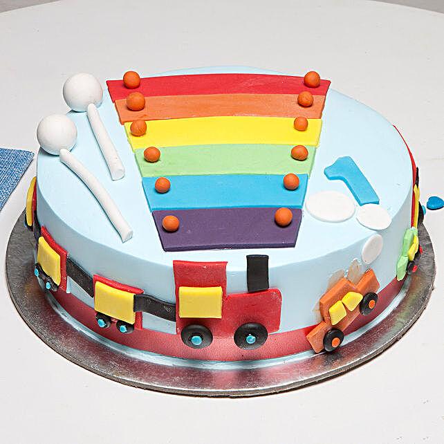 Cool Train First Birthday Cake: Send Mango Cakes to Bengaluru