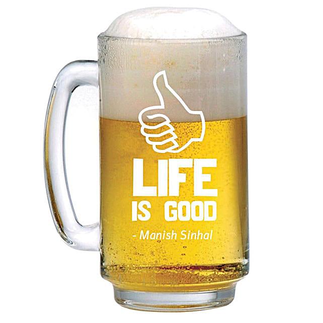 Personalised Beer Mug 1228: Personalised Beer Glasses
