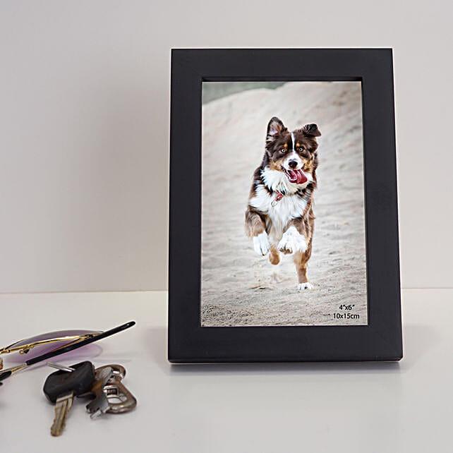 Black Rectangular Wooden Photo Frame: Send Photo Frames
