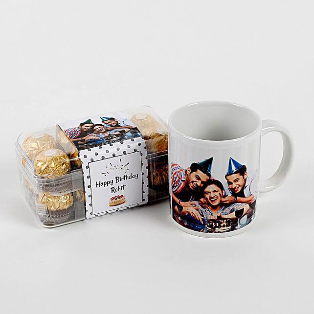 Personalised Mug & Ferrero Rocher Combo Birthday: Ferrero Rocher Chocolates