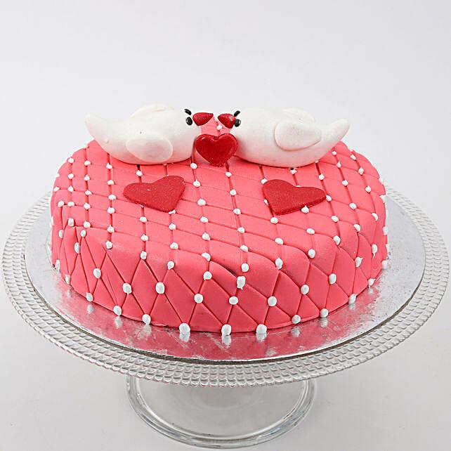Kissing Birds Cake: Anniversary Designer Cakes
