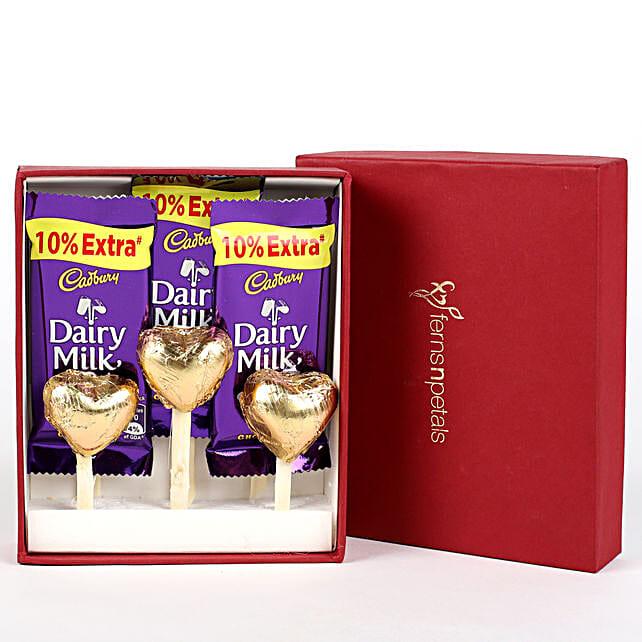 Dairy Milk & Handmade Chocolate in FNP Red Box: Handmade Chocolates