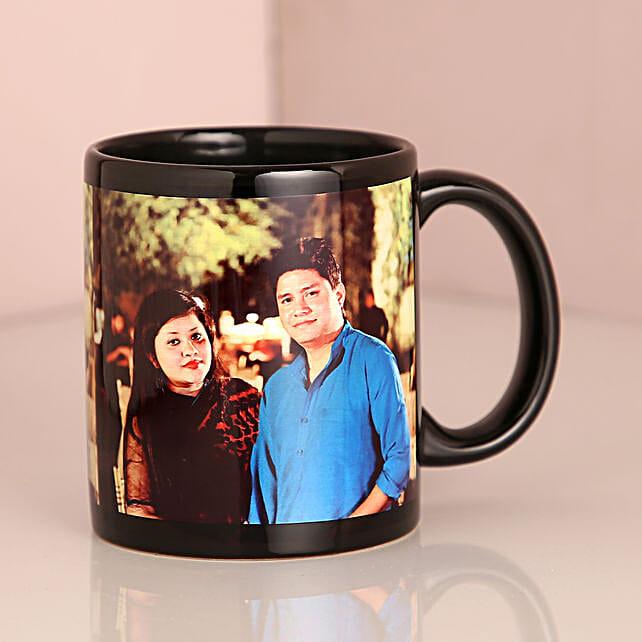 Personalised Couple Black Mug: Personalised Mugs