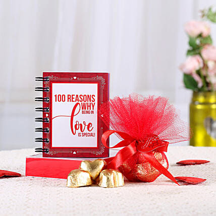 100 Reasons of Love n Chocolates: Heart Shaped Gifts for Valentines Day