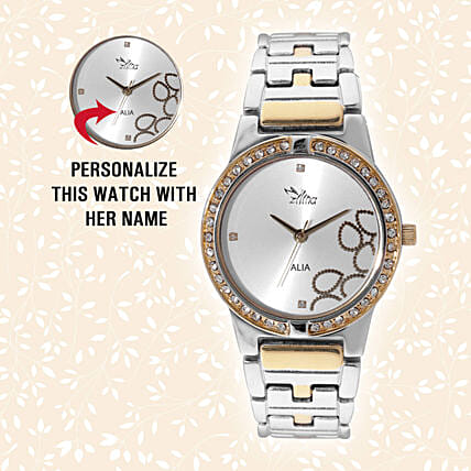 Personalised Glistening Watch For Her: Personalised Accessories