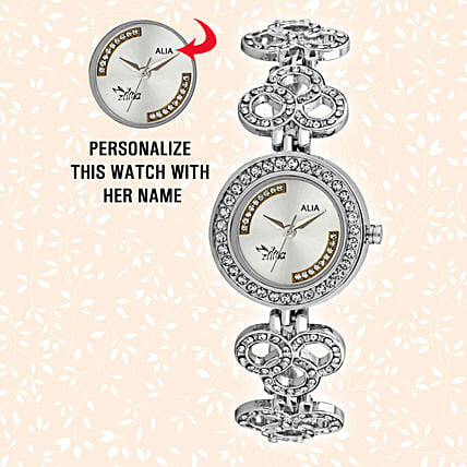 Personalised Stylish Steel Silver Watch: Personalised Watches