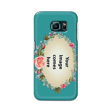Samsung Galaxy S6 Edge Customised Floral Mobile Case: Samsung Phone Personalised Back Covers