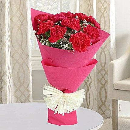 Pink Carnations Bunch: Best Gift For Mother In Law