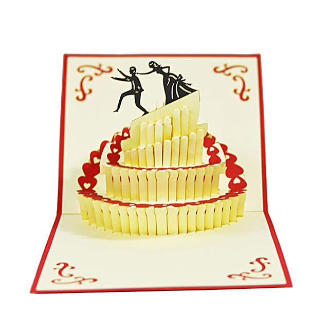 Handmade 3D Pop Up Wedding Cake Card: Unusual Gifts