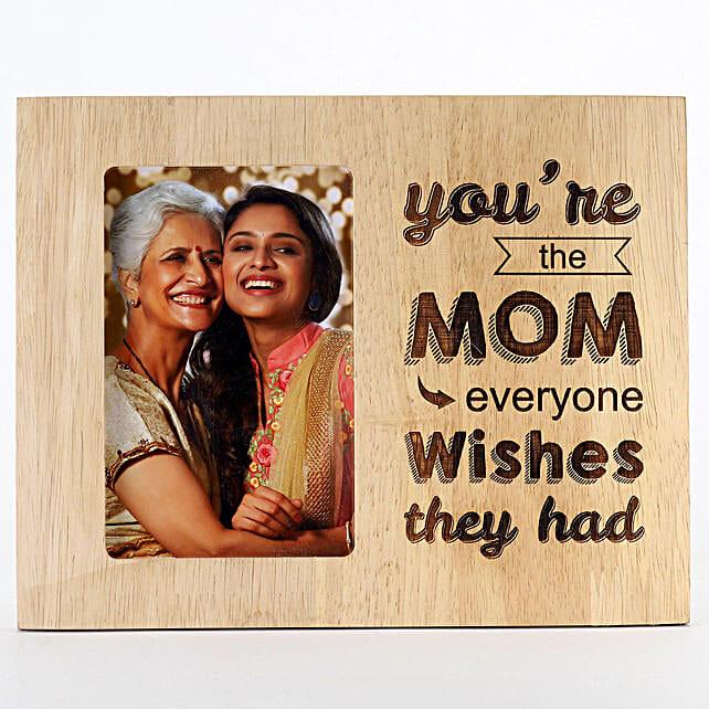 Engraved Wooden Photo Frame For Mom: