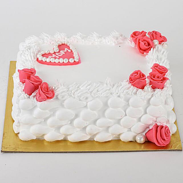 Roses & Heart Cake: Send Vanilla Cakes