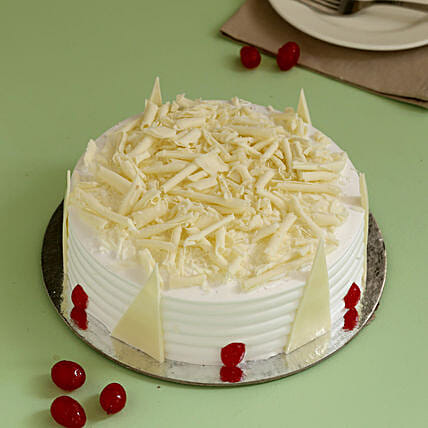 Tempting White Forest Cake: All Cakes