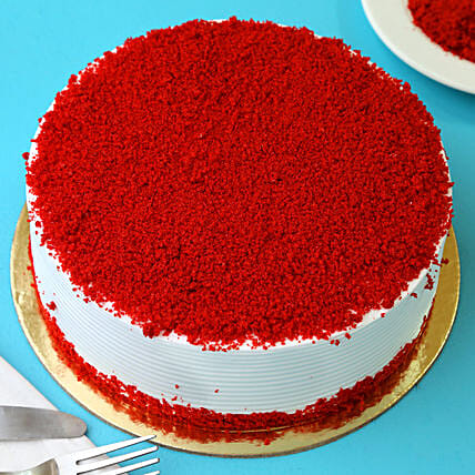 Red Velvet Fresh Cream Cake: Send Gifts to Darjeeling
