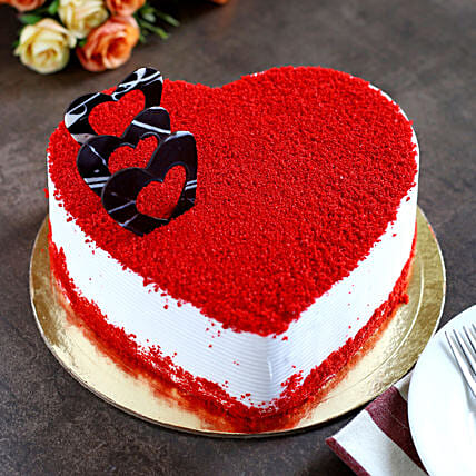 Red Velvet Heart Cake: Birthday All Gifts